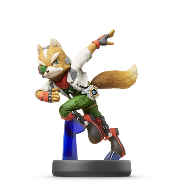 image de l amiibo Fox Mc Cloud visible sur amiibo-collection.com