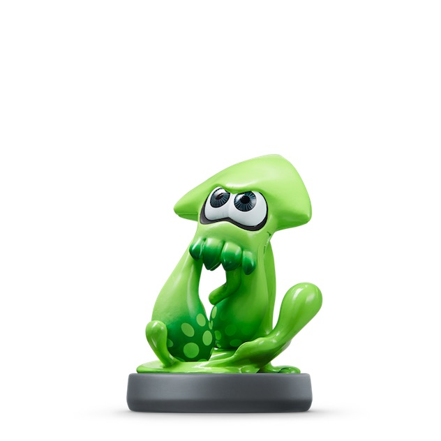 image de l amiibo Calamar Inkling Vert visible sur amiibo-collection.com