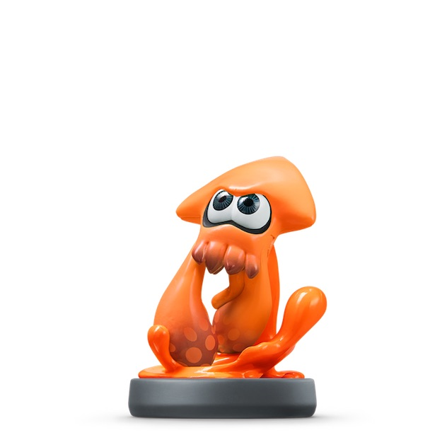 Calamar Inkling Orange visible sur amiibo-collection.com