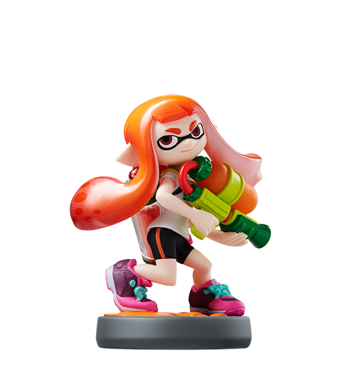 Fille Inkling Orange visible sur amiibo-collection.com