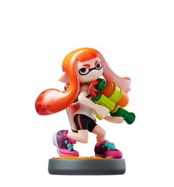 Visuel de l amiibo Fille Inkling Orange
