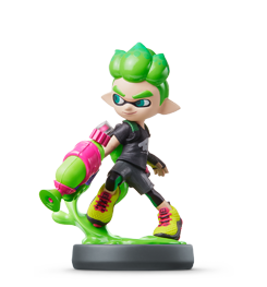 garcon-inkling-vert-collection-splatoon visible sur amiibo-collection.com