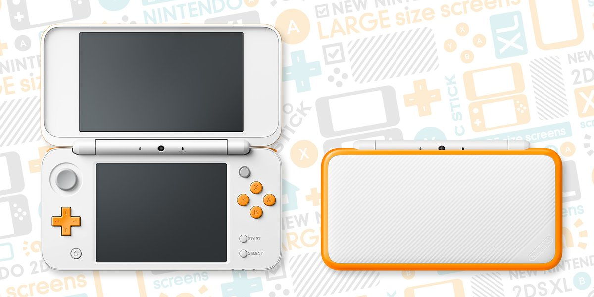 New 2DS XL Blanche et Orange