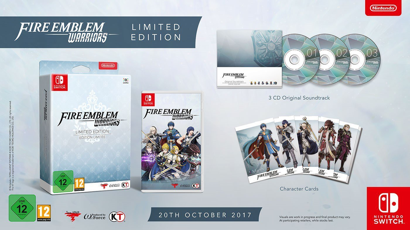 Coffret collector Fire Emblem Warriors sur Nintendo Switch