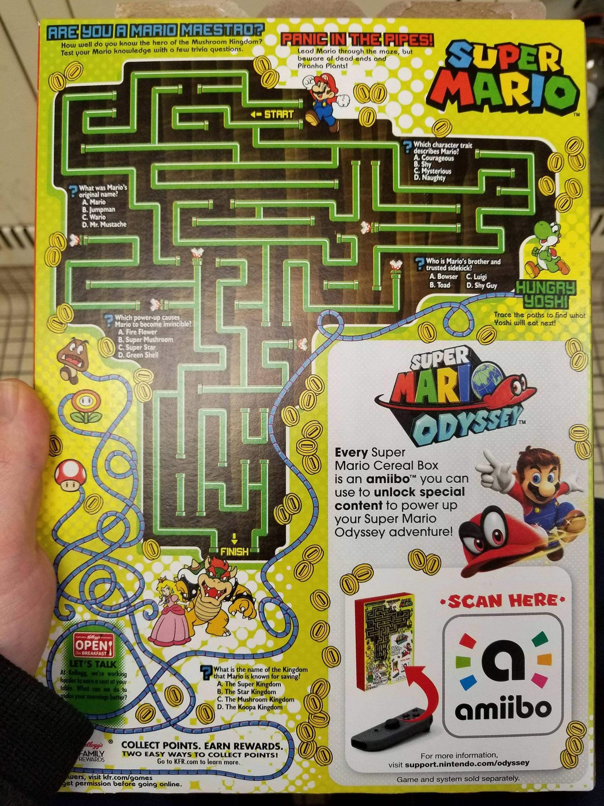 Paquet de céréales Mario