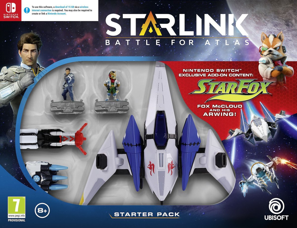starter pack Starlink Fox mcCloud sur Nintendo Switch
