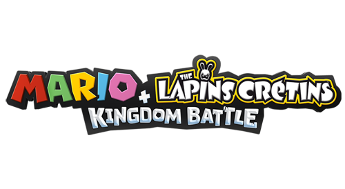 Logo du jeu Mario + The Lapins Crétins: Kingdom Battle